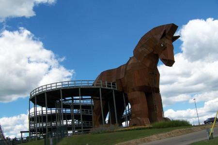 Trojan coaster in Wisconsin Dells, Wis.