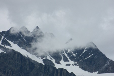Glaciers at Rogers Pass.