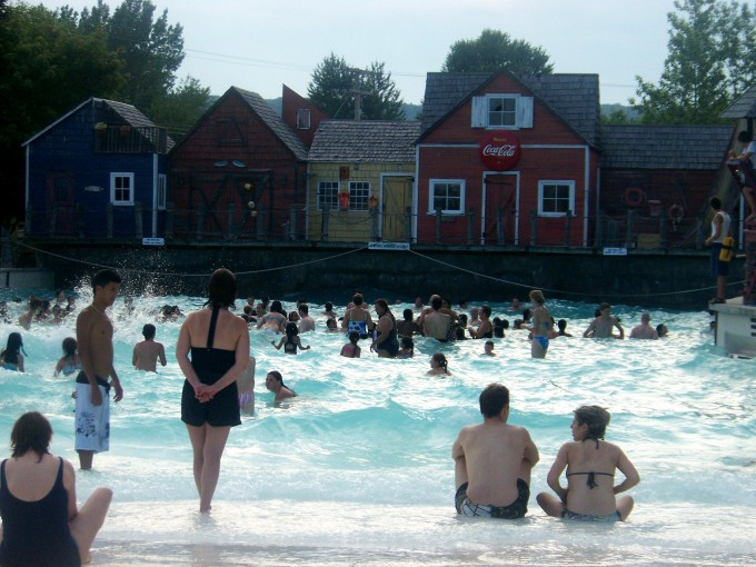 The wave pool, brought to you by Coca-Cola.