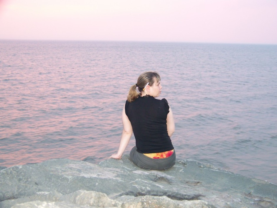 On a rocky Quebec beach in 2009.