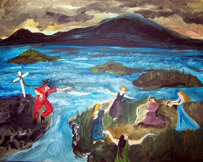 Satan at Ile Verte. I do not have the artist's name.
