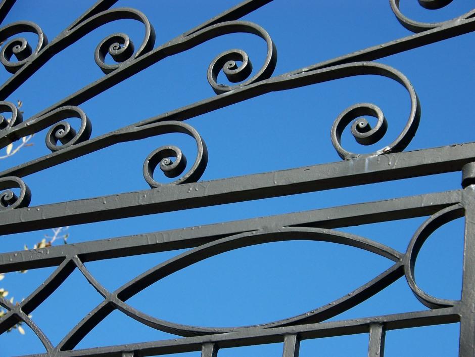 Ironwork on a gate in Charleston, S.C.