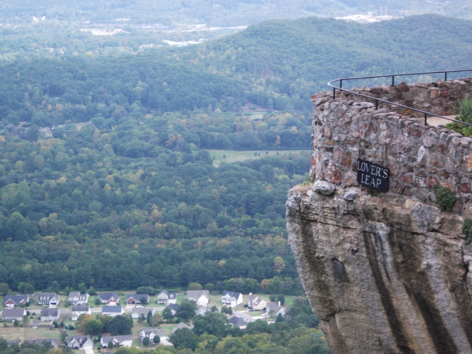 Lover's Leap. And what a leap it is.
