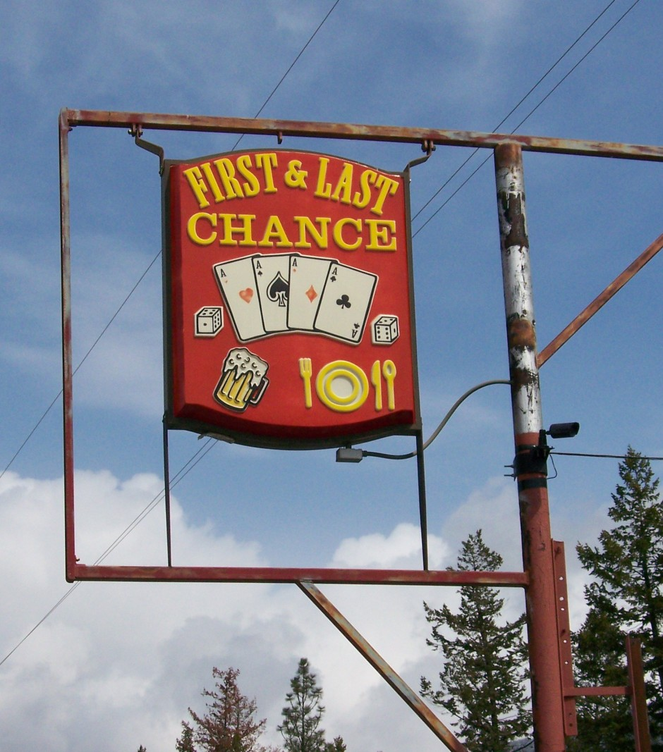 The First and Last bar, just a few feet from the U.S.-Canada border.