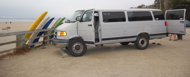 Club Ed's mobile surf school in Santa Cruz, Calif.