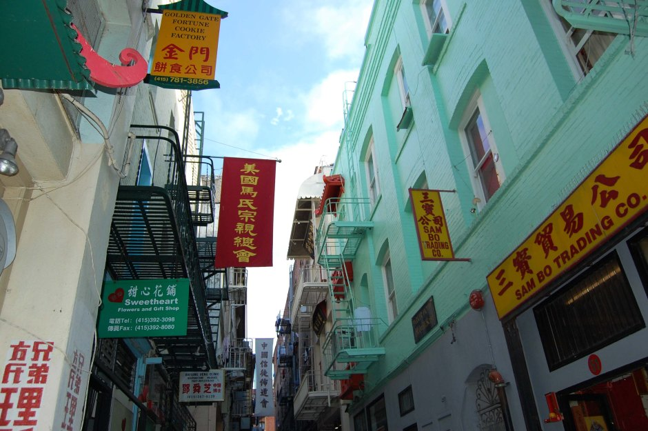 """Ross St., a narrow alleyway in the heart of """"Little Canton"""""""