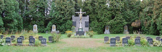 Mont St. Bruno park is the final resting place for many of the brothers who lived here.