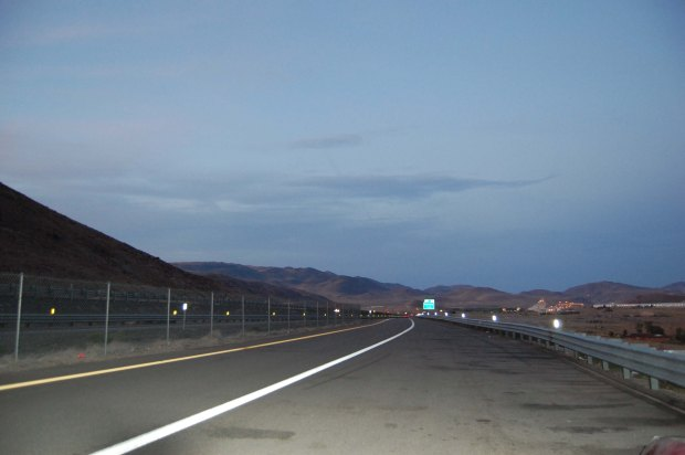 A strip of Interstate 80 in Nevada, on the way to Kansas.