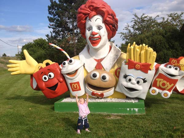 Possibly the creepiest Ronald McDonald ever created, discovered by accident in Ohio.