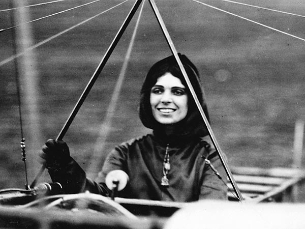 The Wright Brothers didn't teach women, and so Harriet Quimby went to the Moisant School of Aviation.