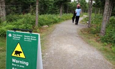 cape breton highlands park bear sign