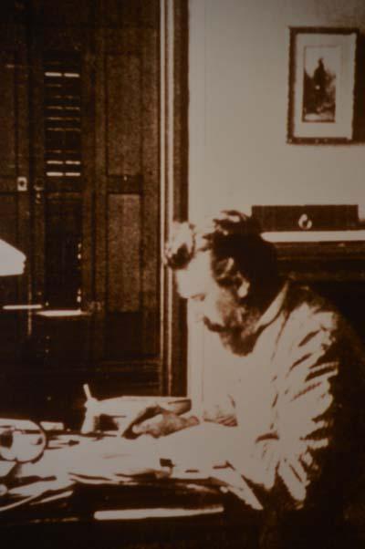 Alexander Graham Bell at work in Baddeck, N.S.