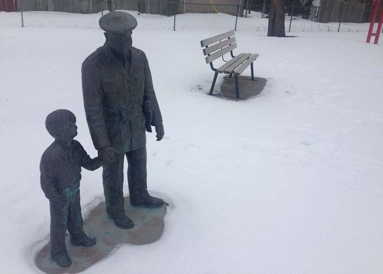 A statue in Broadhead Park in Windsor honours Canada's first black detective, Alton C. Parker.