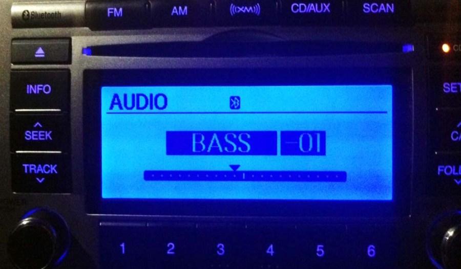 car radio bass