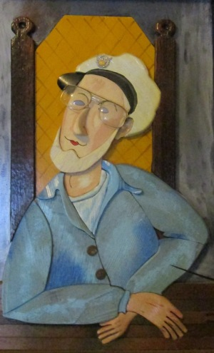 Howard Solomon, a self-portrait in wood.