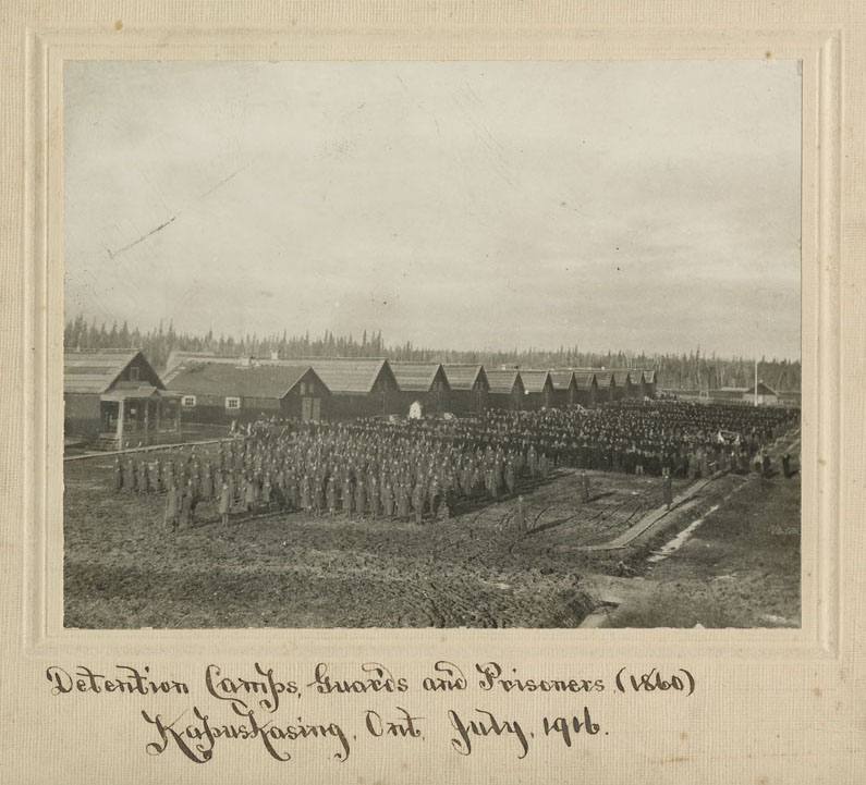 Photo of Kapuskasing's First World War internment camp courtesy of the National Archives of Canada